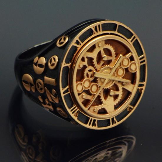 Özel Tasarım Saat Erkek Yüzük