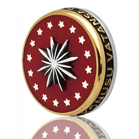 Cumhurbaşkanlığı 925 Ayar Gümüş Rozet