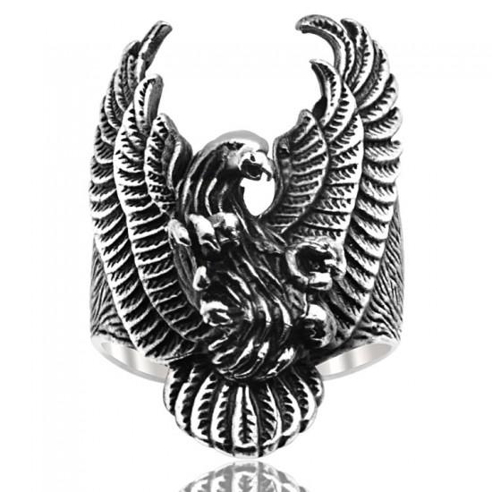 Kartal Figür Gümüş Erkek Yüzük 925 Ayar