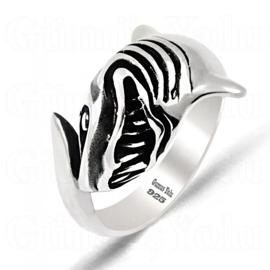 Köpek Balığı Model 925 Ayar Gümüş Erkek Yüzük