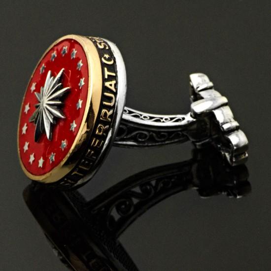 Cumhurbaşkanlığı 925 Ayar Gümüş Kol Düğmesi
