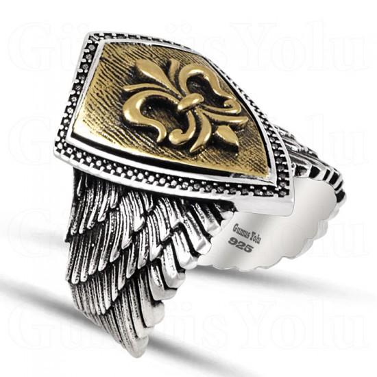 Kartal Kanadı Gümüş Erkek Yüzük 925 Ayar Gümüş