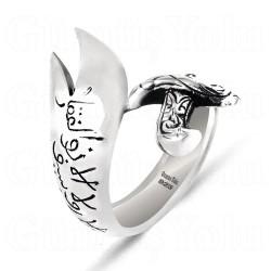 Özel Tasarım Zülfikar 925 Ayar Gümüş Yüzük