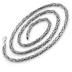 3,5mm Yuvarlak Kral Zincir 925 Ayar Gümüş