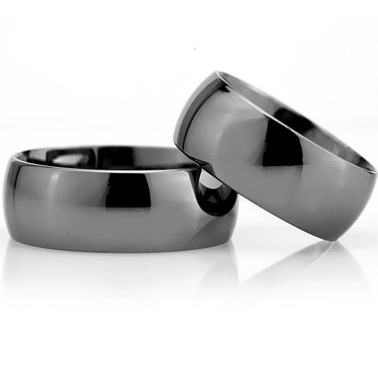 8 MM Bombeli Klasik Gümüş Alyans