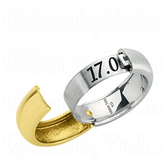 Kişiye Özel Açılıp Kapanan Tek Alyans 925 Ayar Gümüş GY 145