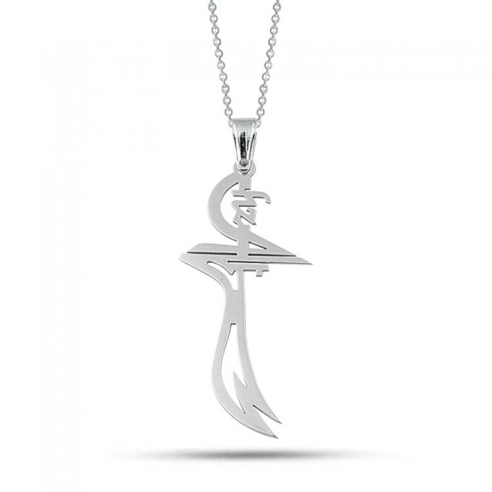 Hz. Ali Zülfikar Kişiye Özel Üretim Kolye 925 Ayar Gümüş