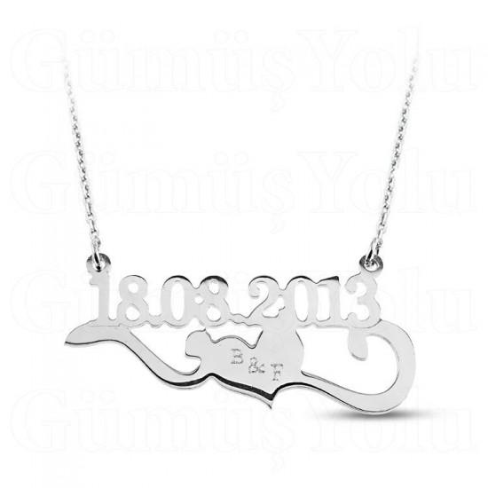 Kişiye Özel Tarih Özel Tasarım 925 Ayar Gümüş Kolye