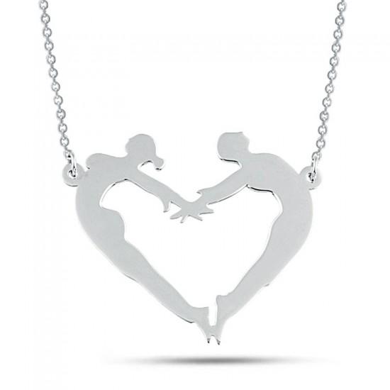 Sevgiliye Özel Kalp Figür Kolye 925 Ayar Gümüş