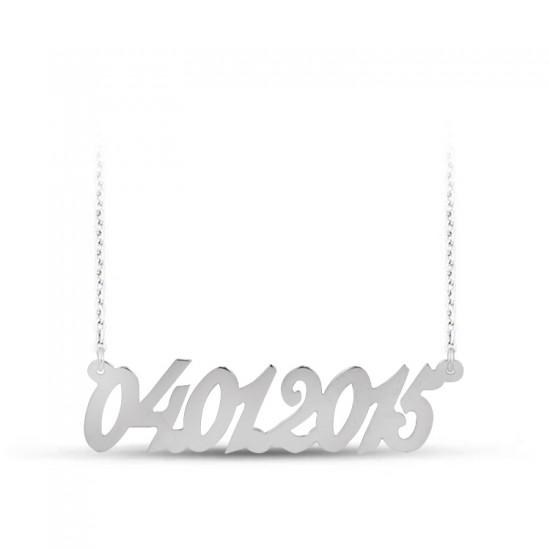 Tarih Kolye Kişiye Özel Üretim 925 Ayar Gümüş