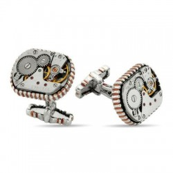 Özel Tasarım Saat Mekanizmalı Kol Düğmesi