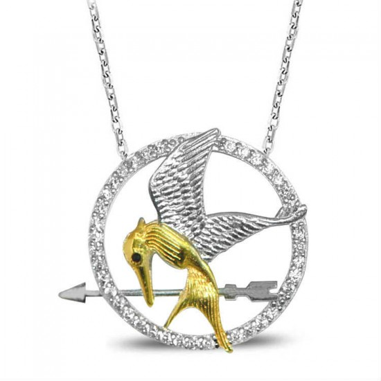 925 Ayar Gümüş Alaycı Kuş Kolye