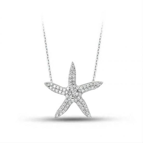 925 Ayar Gümüş Kolye Deniz Yıldızı Model