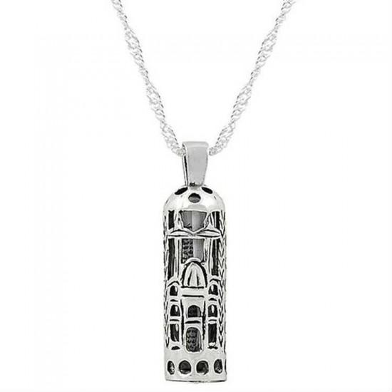 925 Ayar Gümüş Kolye Ve Zincir Cevşen-i Kebir Cami Motifli