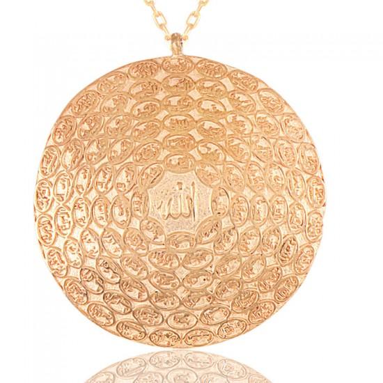 Emaül Hüsna Allahın 99 Adı Gümüş Kolye 925 Ayar