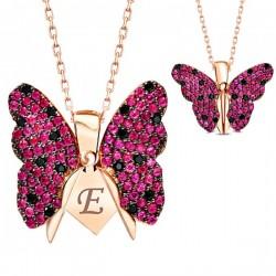Kelebek Kolye Kişiye Özel İsim Veya Harf
