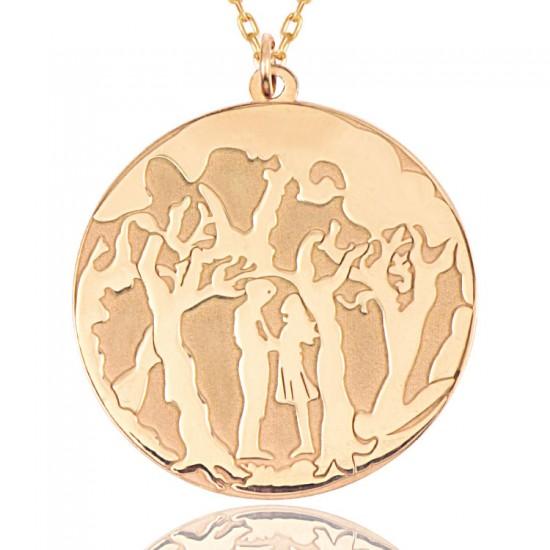 İki Sevgili Kadın Gümüş Kolye 925 Ayar