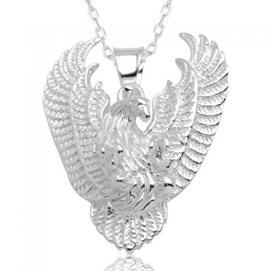 Kartal Figür Unisex Gümüş Kolye 925 Ayar