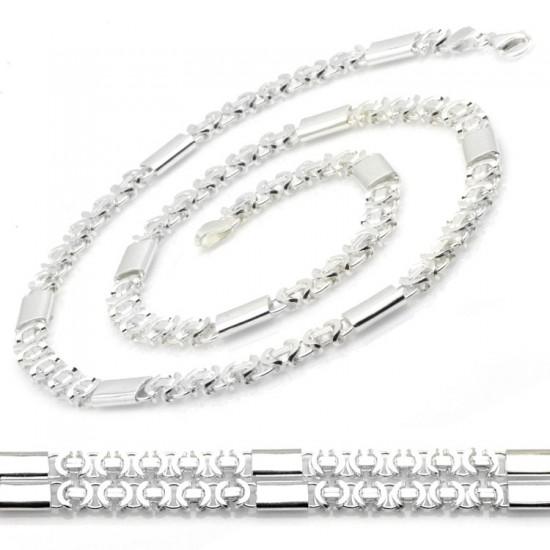 Parçalı Gümüş Zincir 925 Ayar