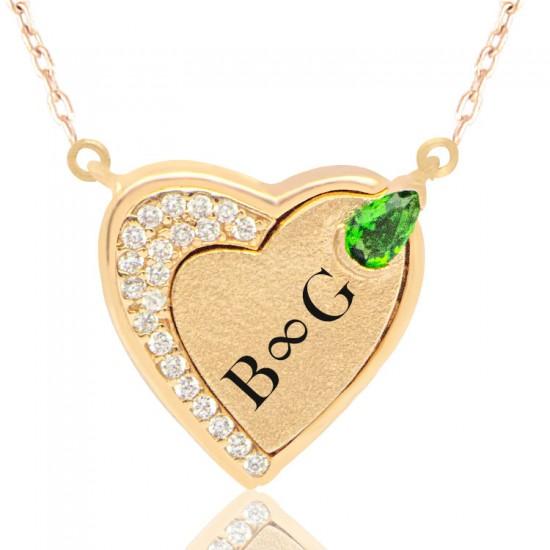 Aşkınıza Özel Kalp Kolye 925 Ayar Gümüş