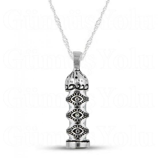 Nazar Göz Model Cevşen Kolye 925 Ayar Gümüş