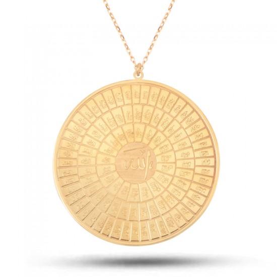Esmaül Hüsna ALLAHIn 99 İsmi Kolye  925 Ayar Rose Gümüş