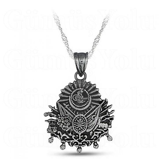 Osmanlı Devlet Arması 925 Ayar Gümüş Kolye