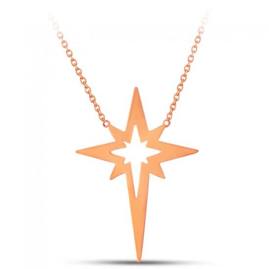 Özel Tasarım Kutup Yıldızı  Gümüş Kolye