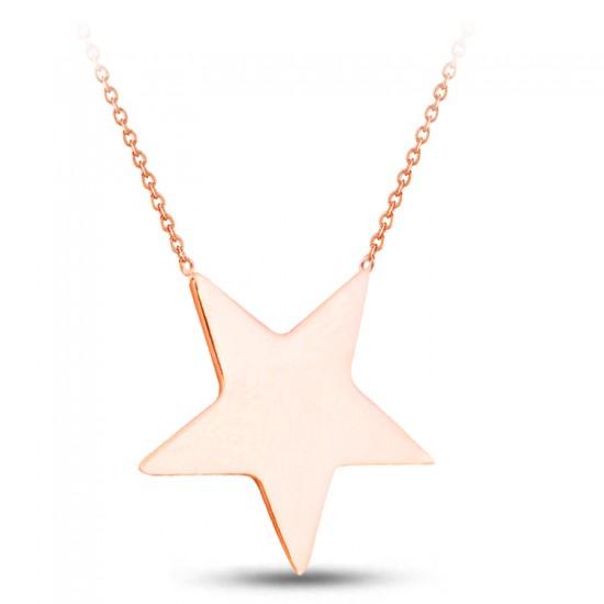 Özel Tasarım Yıldız Model Gümüş Kolye