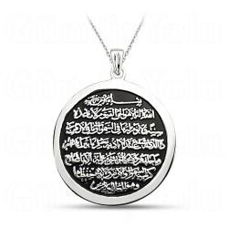 Ayetel Kürsi Kolye 925 Ayar Gümüş