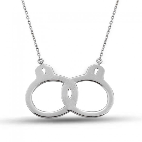 Özel Tasarım Kelepçe Model Gümüş Kolye