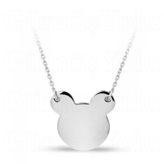 Mickey Mouse Gümüş Kolye Özel Tasarım